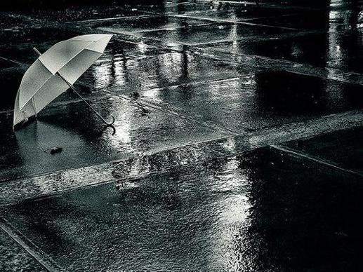 Discoloured Umbrella